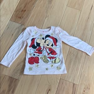 Disney Christmas Minnie and Mickey Top